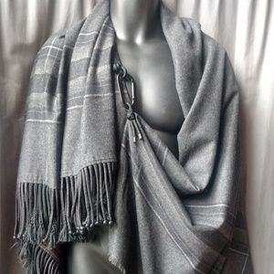 Phillip Lim Fringed Wrap Blanket Pre-owned